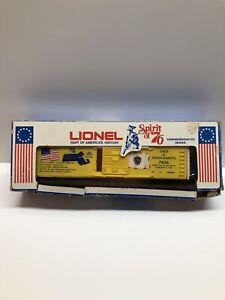 O scale 6-7606 Massachusetts Spirit of 76 Lionel Box Car Bad Box