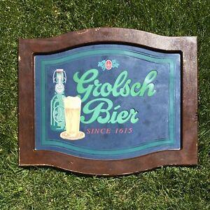 VINTAGE Grolsch Bier Mirror Sign