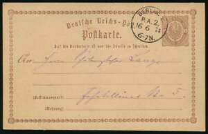 D.Reich BERLIN-Stempel KBHW 219, K1 BERLIN P.A.2 auf P1 als Ortskarte (64061)