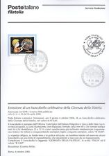 ITALY 2006 GIORNATA OF PHILATELY BULLETIN COMPLETE WITH STAMPS FDC