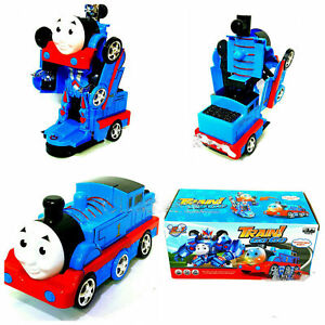 BUMP & GO THOMAS TRAIN WITH FLASHING LIGHTS AND MUSIC SOUND TRANSFORMER TOYS