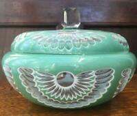 ANTIQUE GLASS CANDY POT CASE BOWL RARE COLLECTIBLE VINTAGE ART JAPAN F/S