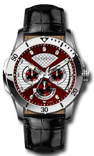 Luxury Men's Designer Watch from the Home Cavadini Full Calendar Burgundi