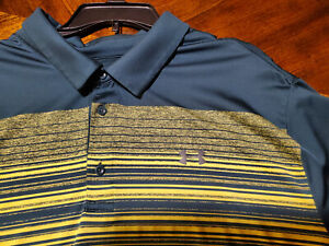 Under Armour Performance NEW Golf Polo Shirt 3XL Green & Yellow / MSRP 69.95
