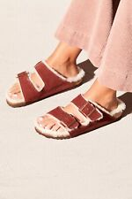 New Free People Arizona Shearling Birkenstock Sandal size 6 MSRP: $150 Suede