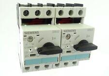 2x Siemens SIRIUS 3RV1021-0KA10 Leistungsschalter Circuit Breaker 0,9..1,25A E06