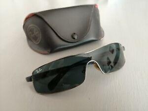 lunette de soleil RAY BAN , monture métal argenté , TBE