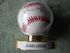 JUAN URIBE AUTOGRAPHED SIGNED BASEBALL Rockies, Giants, White Sox, Mets, Dodgers