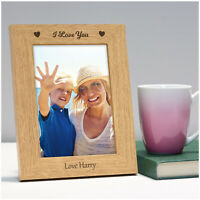PERSONALISED I Love You Mothers Day Photo Frame Gifts for Mum Mummy Nanny Nan