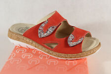 Turm Ladies Mules Slippers Sandals Jacket Genuine Leather Red New
