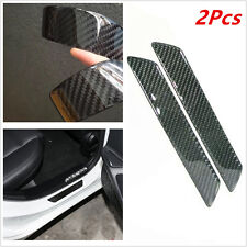 Carbon Fiber Scuff Plate Rear Door Sill Cover Panel Step Protector Guard 25.8CM
