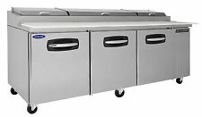 Nor-Lake AdvantEdge Nlpt93-001, 93-inch 3 Door Pizza Prep Tables W/Drawers