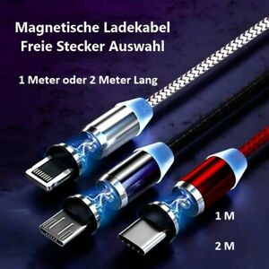Ladekabel 3 in 1 Magnet Magnetisch Freie Auswahl IPhone Micro Type C USB C 1m/2m