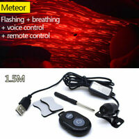 Car USB LED Starry Sky Meteor Decor Atmosphere Light Music Sound Remote Control