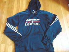 ADIDAS NBA AUTHENTIC MIAMI HEAT ON COURT HOODED FLEECE SIZE XL+2""