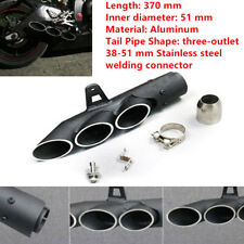 51mm Motorcycle Exhaust Muffler Pipe Part Magical Three-outlet Tail Pipe System