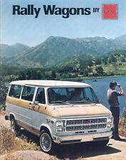 1979 GMC G1500 G2500 G3500 Rally Wagon Van Truck Brochure my3617