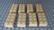 LEGO Tan 2x4 Brick Lot of Eight +NEW+  10181 7194 10144 7965  5988