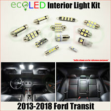 Fits 2013-2018 Ford Transit WHITE LED Interior Light Accessories Package Kit 12x