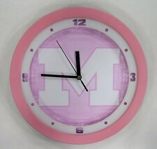 """Michigan University Wolverines 12"""" College Plastic Round Wall Clock by Suntime"""