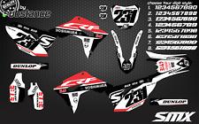2019 Honda CRF450 CRF 250 custom motocross graphics decal kit 2018 2017 2020 SMX