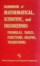 Handbook of Mathematical, Scientific, and Engineering Formulas,-ExLibrary