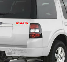 "HYBRID 6"" X 1"" VINYL DECAL STICKER - RED"