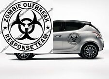 2x Large zombie outbreak response team car decal sticker transfer