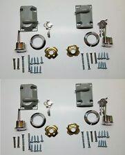 4 Sets GARAGE DOOR KEYED DEAD BOLT CYLINDER LOCK KEY SET (KEYED ALIKE)