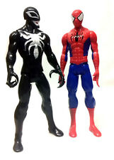"Marvel Comics VENOM v SPIDERMAN 10"" titan toy figure hero & villain set"