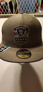 Oakland Raiders NFL New Era Salute To Service 59fifty fitted  hat 7 1/4