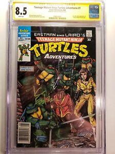 Archie Comics 1988 TEENAGE MUTANT NINJA TURTLES 1 Newsstand CGC 8.5 SS Eastman