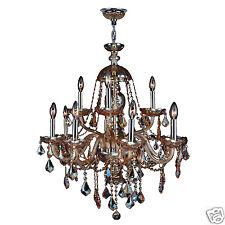 "SALE Provence Italian Venetian 12 Light Amber Crystal Chandelier 28x31"" Two Tier"