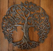 "New Design Celtic Inspired Tree of Life, 23""x23""  Fair trade from Haiti,"