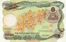 Singapore 10000 Dollars 1973 P8A RARE ! Authorised Reproduction