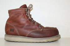 Timberland PRO Mens Barstow Wedge Alloy Toe Work Boots Sz 12 M Brown Leather