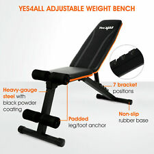 Yes4All Weight Bench Incline Decline Foldable For Workout Gym Exercise Training