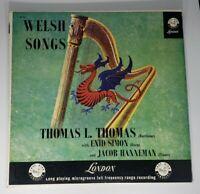 THOMAS SIMON HANNEMAN welsh songs LP  LL 1249 1A/1A vinyl record +VG