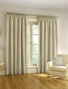 "Enhanced Living 'Harvard' Thermal Blackout Tape Top Curtains Natural (90""x108"")"