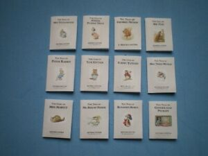 Dolls House miniatures accessories - Beatrix Potter books x 12