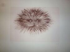 Regis Dho Gravure Originale signée numérotée Designer et architecte le chat
