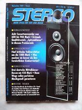 STEREO 11/89    LINEAR ACOUSTIC LA V 1/LA 60,SANSUI AU X 911 DG,SONY TA F 630 ES