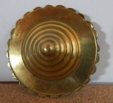 ANTIQUE HORSE BRASS Beehive Bridal Rossette 7.5cm diameter v4