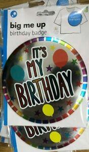 New Large Happy Birthday badge