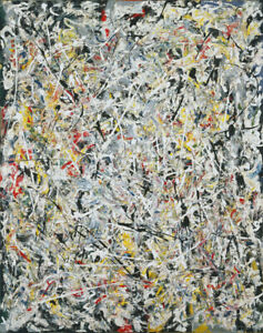 Repro For Jackson Pollock - White Light HD Print on Canvas Large Wall Picture
