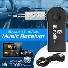 Latest Wireless Bluetooth Audio Receiver Music Adapter Mic Car 3.5mm AUX UK