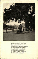 Allendorf Werra Hessen AK ~ 1920 FAMILY AD. old lime tree with text Poem