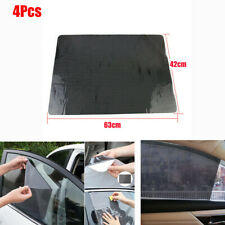"4 Pcs SUV Car Window Sun Shade Cover Reusable  Protective Film Anti-UV 25"" x 17"""
