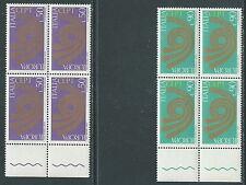 1973 ITALIA EUROPA QUARTINA MNH ** - ED-2