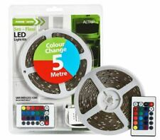 Powermaster LED Strip Lights Flexible Colour Changing RGB & Remote Control 2m